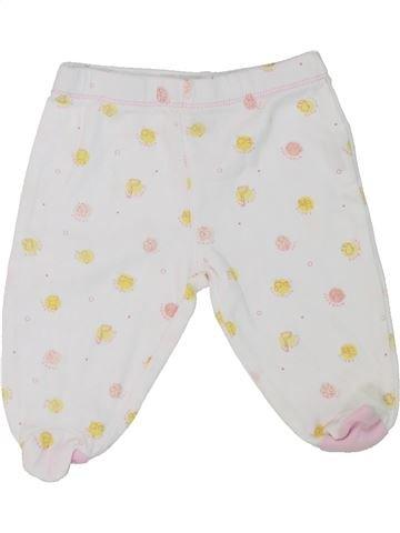 Pantalon fille FAGOTTINO blanc 1 mois été #1284351_1