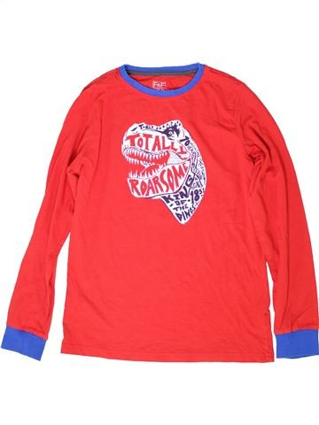 T-shirt manches longues garçon F&F rouge 13 ans hiver #1284631_1
