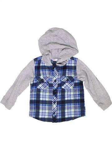Chemise manches longues garçon M&CO gris 2 ans hiver #1284648_1
