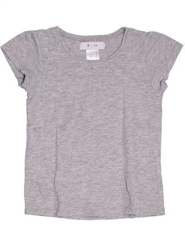 T-shirt manches courtes fille LA REDOUTE CRÉATION gris 4 ans été #1284778_1