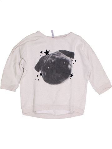Sweat fille GEMO blanc 12 ans hiver #1284977_1