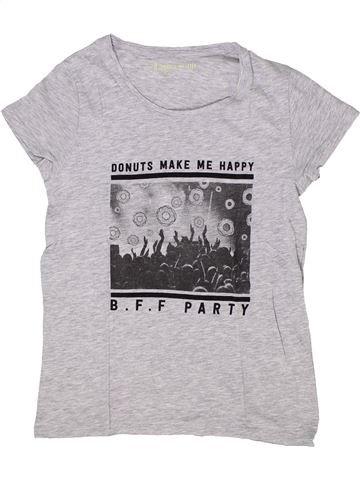 T-shirt manches courtes fille GEMO blanc 12 ans été #1284982_1