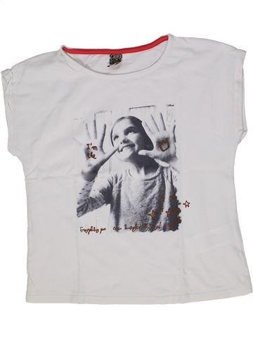 T-shirt manches courtes fille TAPE À L'OEIL blanc 8 ans été #1285353_1
