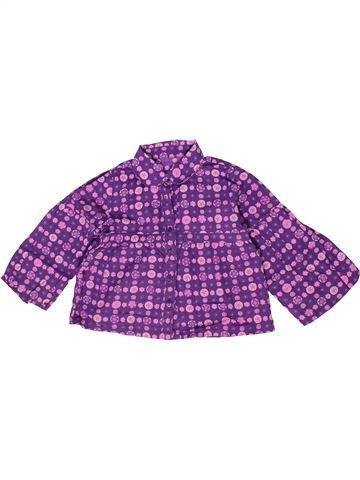 Blouse manches longues fille TAPE À L'OEIL violet 3 ans hiver #1285364_1