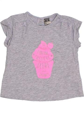 T-shirt manches courtes fille TAPE À L'OEIL gris 2 ans été #1285533_1