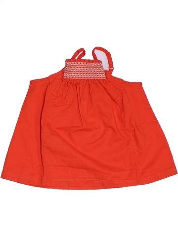 Blusa de manga corta niña OKAIDI rojo 4 años verano #1285594_1