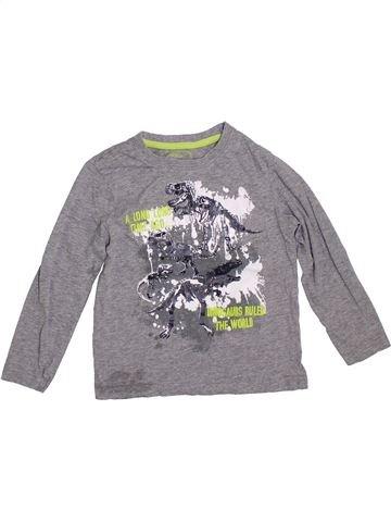 T-shirt manches longues garçon PEP&CO gris 6 ans hiver #1288814_1