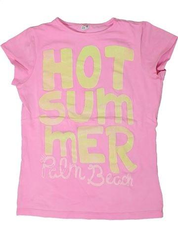 T-shirt manches courtes fille IDEXE rose 10 ans été #1289075_1