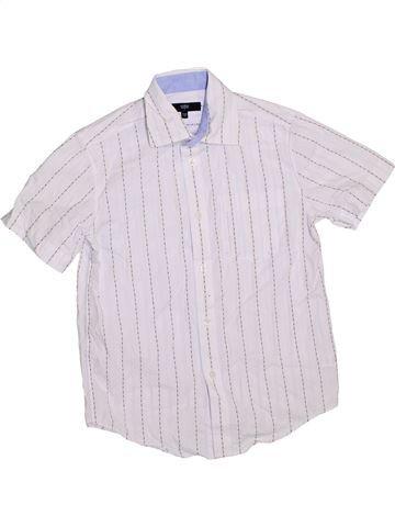 Chemise manches courtes garçon JASPER CONRAN blanc 10 ans été #1289158_1