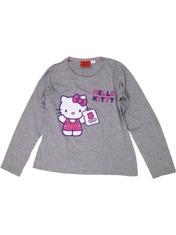 T-shirt manches longues fille HELLO KITTY gris 10 ans hiver #1289300_1