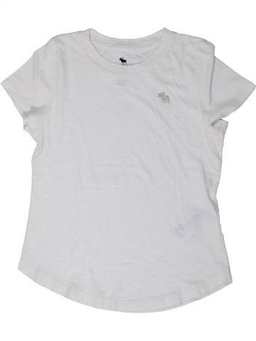 T-shirt manches courtes garçon ABERCROMBIE ET FITCH blanc 10 ans été #1290200_1