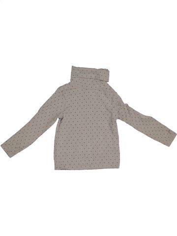 Camiseta de cuello alto niña OKAIDI gris 2 años invierno #1290776_1