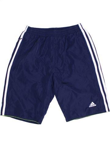 Pantalon corto deportivos niño ADIDAS azul 12 años verano #1292503_1