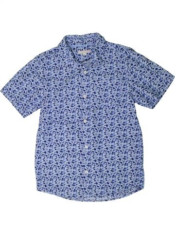 Chemise manches courtes garçon JOHN LEWIS bleu 9 ans été #1292916_1