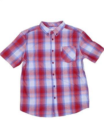 Chemise manches courtes garçon BEN SHERMAN violet 13 ans été #1297949_1