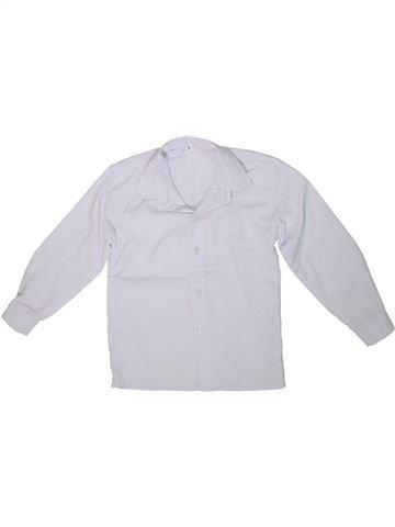 Camisa de manga larga niño SANS MARQUE blanco 5 años invierno #1298721_1