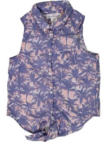 Blusa de manga corta niña H&M azul 11 años verano #1300067_1