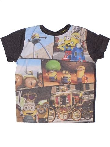 Camiseta de manga corta niño LES MINIONS gris 4 años verano #1300189_1