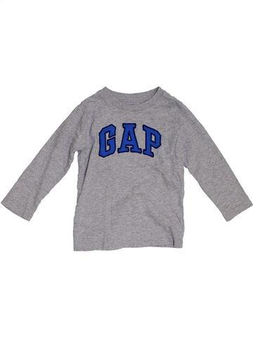 Camiseta de manga larga niño GAP gris 3 años invierno #1300192_1