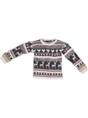 Pull fille GEORGE gris 6 ans hiver #1300193_1