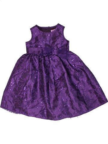 Vestido niña F&F violeta 12 meses invierno #1300352_1