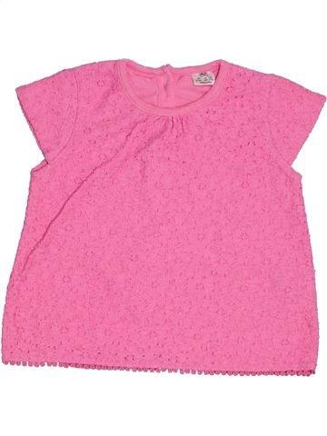 Camiseta de manga corta niña F&F rosa 12 meses verano #1301171_1
