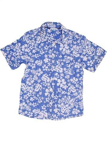 Chemise manches courtes garçon JOHN LEWIS bleu 11 ans été #1301264_1