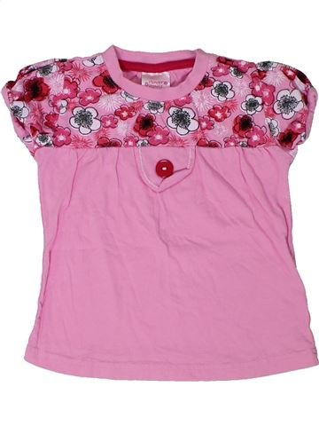 Camiseta de manga corta niña FLOWER POWER rosa 2 años verano #1301293_1