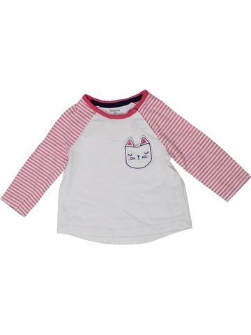 Camiseta de manga larga niña F&F blanco 6 meses invierno #1301438_1