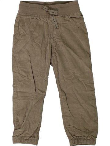 Pantalón niño LUPILU marrón 2 años invierno #1302068_1