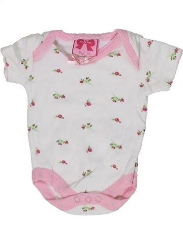 T-shirt manches courtes fille MINI MOI blanc naissance été #1302220_1