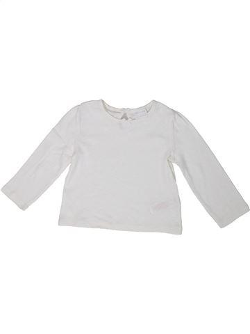 Camiseta de manga larga niña F&F blanco 12 meses invierno #1302324_1