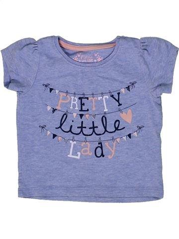 Camiseta de manga corta niña PRIMARK azul 12 meses verano #1302629_1
