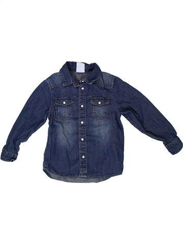 Camisa de manga larga niño H&M azul 4 años invierno #1302982_1
