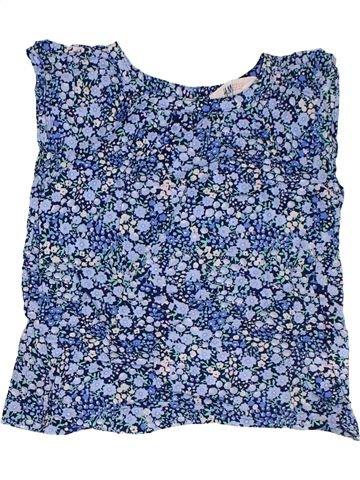Blouse manches courtes fille H&M bleu 6 ans été #1302992_1