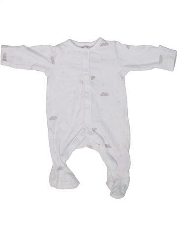 Pijama de 1 pieza niño MOTHERCARE blanco prematuro verano #1303066_1