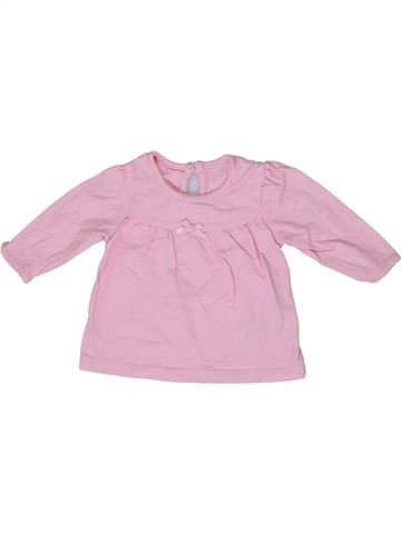 T-shirt manches longues fille GEORGE rose naissance hiver #1303288_1