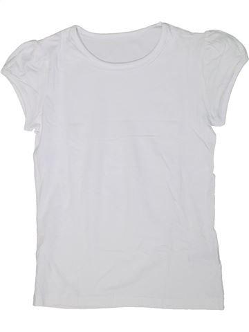 T-shirt manches courtes fille GEORGE blanc 13 ans été #1303550_1