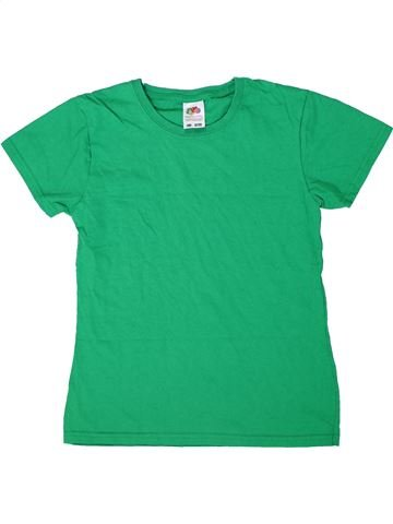T-shirt manches courtes garçon FRUIT OF THE LOOM vert 13 ans été #1303672_1