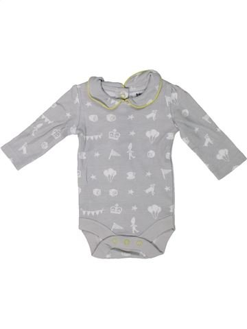 T-shirt manches longues fille BABY BODEN gris naissance hiver #1303809_1