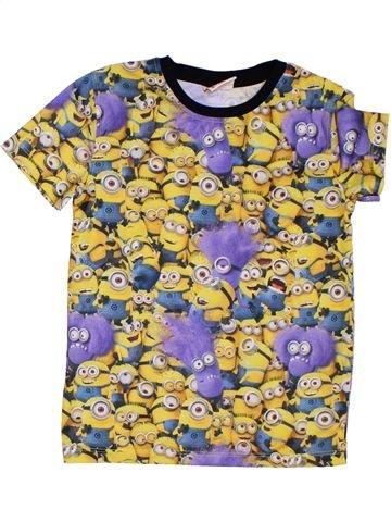 T-shirt manches courtes garçon LES MINIONS beige 8 ans été #1303815_1