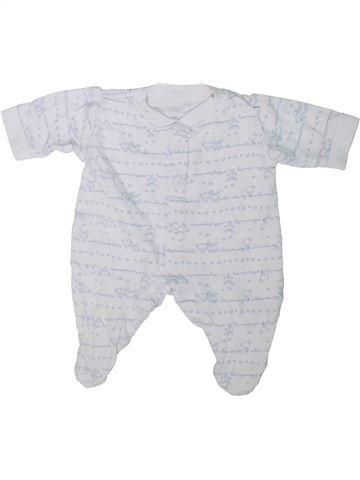 Pyjama 1 pièce garçon GEORGE blanc prématuré été #1304287_1