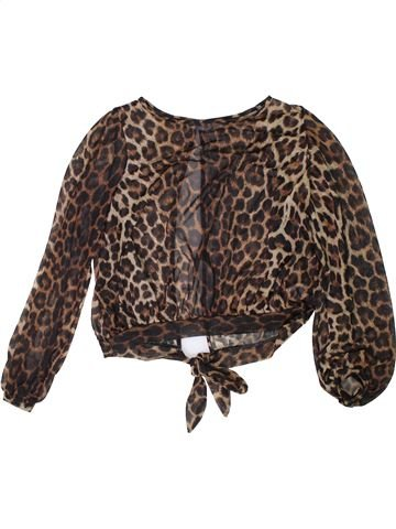 Blusa de manga larga niña NEW LOOK marrón 13 años invierno #1304487_1