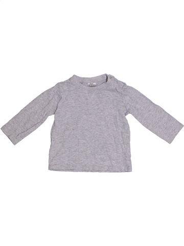 T-shirt manches longues garçon F&F gris 9 mois hiver #1305148_1