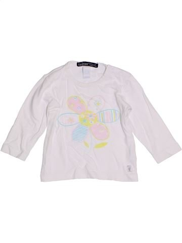 T-shirt manches longues fille FASHION blanc 9 mois hiver #1305470_1