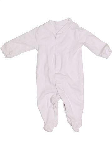 Pyjama 1 pièce unisexe GEORGE blanc naissance été #1305615_1