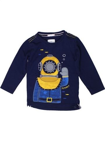 T-shirt manches longues garçon JASPER CONRAN bleu 3 ans hiver #1305642_1