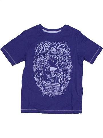 T-shirt manches courtes garçon TU violet 5 ans été #1305716_1