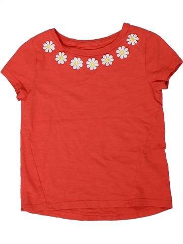 T-shirt manches courtes fille NUTMEG rouge 5 ans été #1305804_1