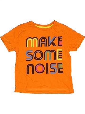 T-shirt manches courtes garçon F&F orange 5 ans été #1306134_1